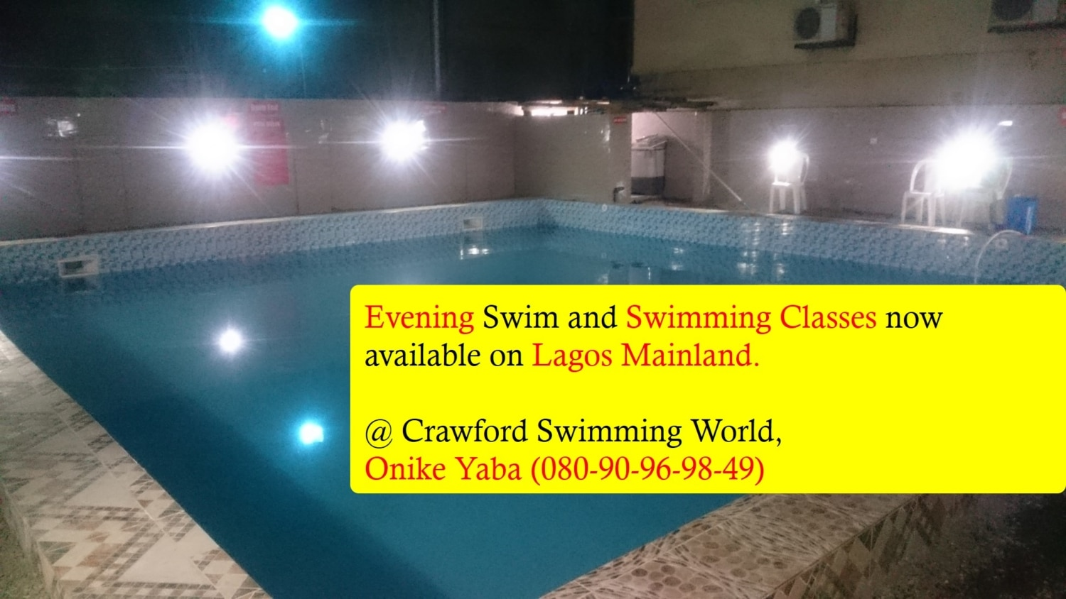 Evening Swimming lessons in Lagos